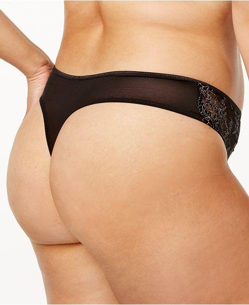 0549768125a Ashley Graham Plus Size Crisscross-Keyhole Lace Thong 760460 ...