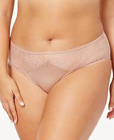 fa908fca9d58e Ashley Graham Lingerie Plus Size Front-Keyhole Lace Panty 401432