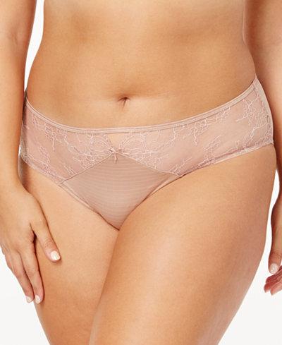 Ashley Graham Lingerie Plus Size Front-Keyhole Lace Panty 401432