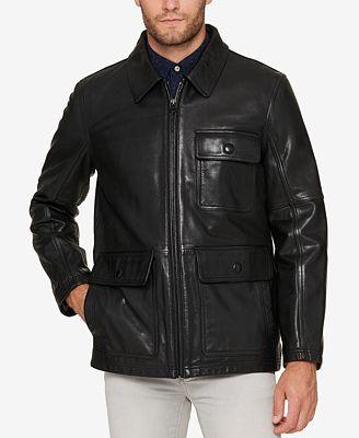 Marc New York Men's Lightweight Leather Jacket - Coats & Jackets ...