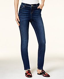 I.N.C. Petite Medium Rinse Skinny Jeans, Created for Macy's