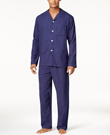 Club Room Men's Cotton Flannel Pajama Set, Created for Macy's