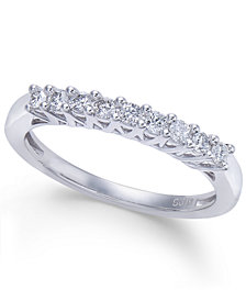 Diamond Nine-Stone Band (1/4 ct. t.w.) in 14k White Gold