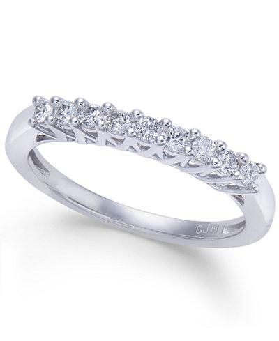 Diamond Nine-Stone Band (1/4 ct. t.w.) in 14k White Gold