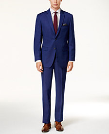Perry Ellis Men's Slim-Fit Blue Micro-Dot Suit