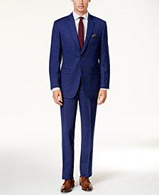 Perry Ellis Men's Slim-Fit Blue Micro-Dot Suit