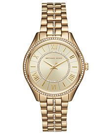 Michael Kors Women's Lauryn Gold-Tone Stainless Steel Bracelet Watch 38mm