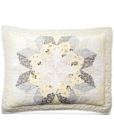 CLOSEOUT! Martha Stewart Collection Starburst Quilted Standard Sham, Created for Macy's