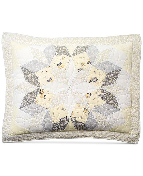 Martha Stewart Collection CLOSEOUT! Starburst Quilted Standard Sham, Created for Macy's