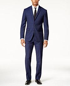 Vince Camuto Men's Slim-Fit Blue Plaid Suit