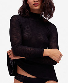Free People Weekends Snuggle Mock-Turtleneck Sweater
