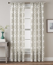 "Lotus Harmony 40"" x 84"" Geometric Print Curtain Panel"