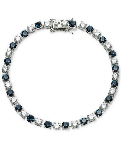 Carolee Silver-Tone Stone & Crystal Link Bracelet
