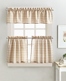 "Lodge Plaid 24"" Tier & Valance Set"