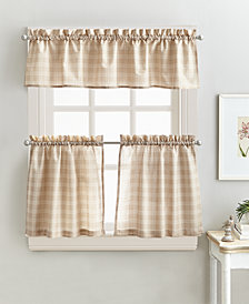 "Curtainworks Lodge Plaid 24"" Tier & Valance Set"