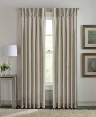"Sandy Cancun Inverted Pleat 31"" x 84"" Tab Top Window Panel"