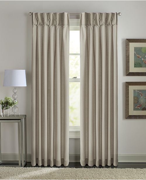 "Curtainworks Sandy Cancun Inverted Pleat 31"" x 84"" Tab Top Window Panel"