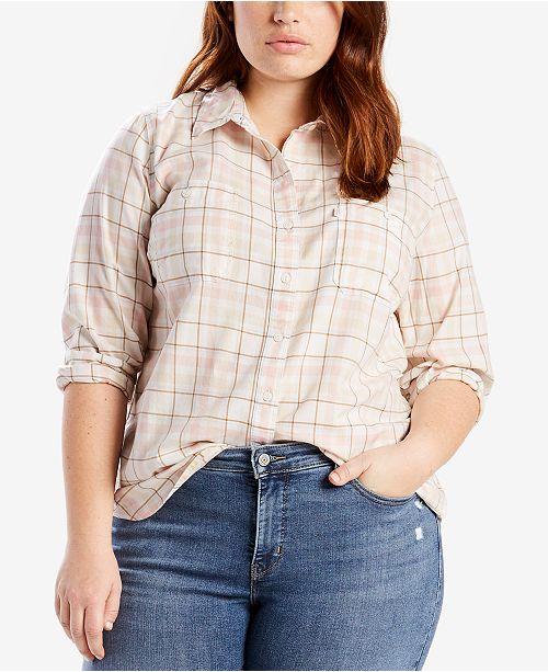 Levis Plus Size Cotton Boyfriend Shirt Tops Plus Sizes Macys