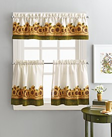 "Sunflower Garden 36"" Tier & Valance Set"