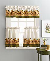 """Curtainworks Sunflower Garden 36"""" Tier & Valance Set"""