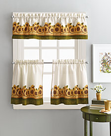 "Curtainworks Sunflower Garden 36"" Tier & Valance Set"