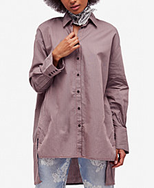Free People Lakehouse Cotton Oversized Shirt