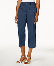 Style & Co Tab-Pocket Capri Pants, Created for Macy's