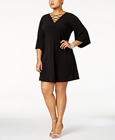 Jessica Howard Plus Size Lace-Up Dress
