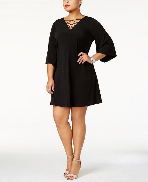 88b85d91275cd Jessica Howard. Plus Size Lace-Up Dress. 5 reviews. main image  main image  ...