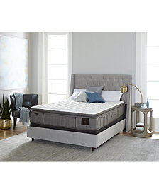 "Stearns & Foster Estate Garrick 14.5"" Luxury Cushion Firm Euro Pillow Top Mattress Set- Queen"