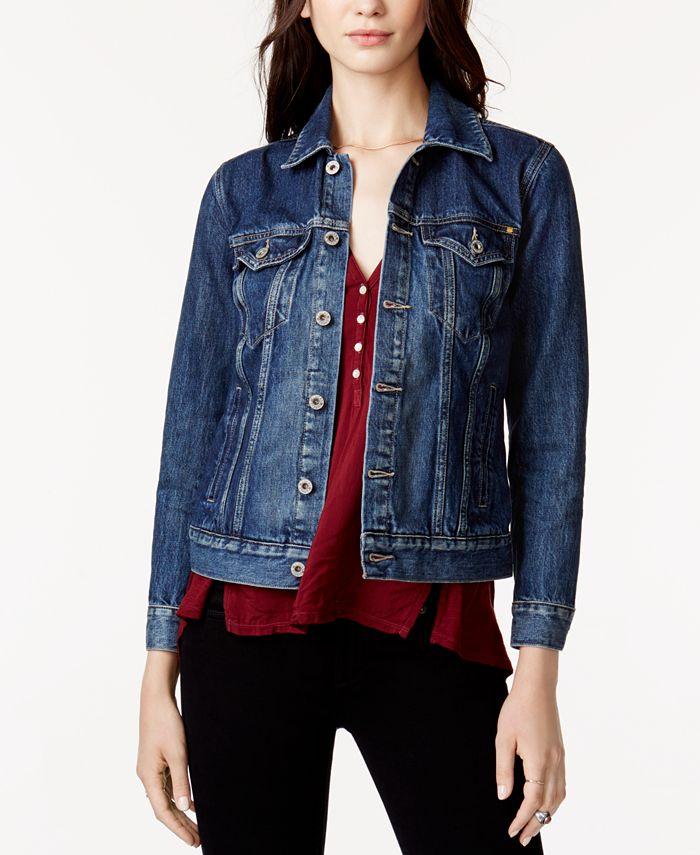 Lucky Brand - Cotton Denim Trucker Jacket