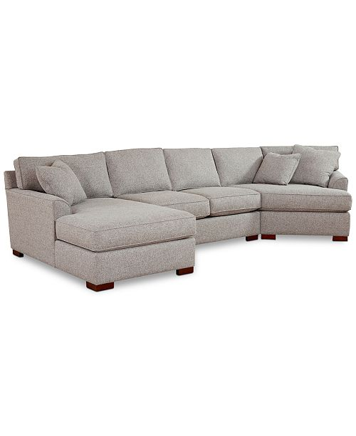 Groovy Carena 3 Pc Fabric Sectional Sofa With Armless Loveseat And Cuddler Chaise Created For Macys Cjindustries Chair Design For Home Cjindustriesco