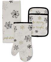 kate spade new york 3-Pc. Snowflake Kitchen Set