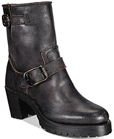 Frye Women's Sabrina Moto Engineer Boots