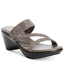 Callisto Raya Embellished Wedge Sandals