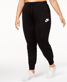 Plus size workout clothes activewear loungewear macys nike plus size sportswear rally pants sciox Images