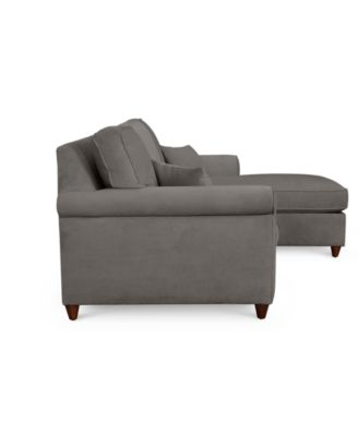 furniture lidia 82 fabric 2 pc chaise sectional queen sleeper sofa rh macys com sofa sectionals sleeper jarreau sofa chaise sleeper