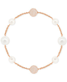 Swarovski Remix Collection Pavé Ball & Imitation Pearl Flex Bracelet