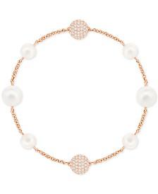 Swarovski Remix Collection Pavé Ball & Imitation Pearl Flex Bracelet