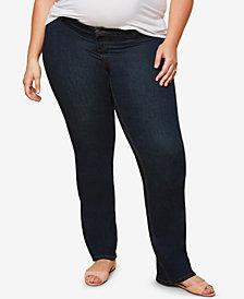 Jessica Simpson Maternity Plus Size Dark Wash Skinny Jeans