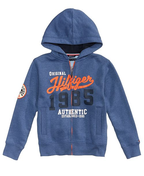 9c6959e99f6d Tommy Hilfiger Graphic-Print Full-Zip Hoodie, Big Boys & Reviews ...