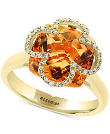 EFFY® Citrine (6-1/2 ct. t.w.) & Diamond (1/8 ct. t.w.) Ring in 14k Gold