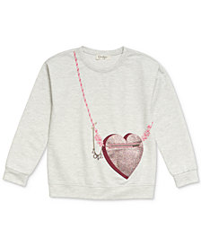 Jessica Simpson Heart Purse-Pocket Sweatshirt, Big Girls