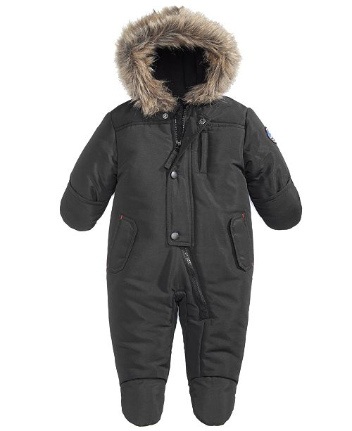 3ab301cdd S Rothschild   CO S. Rothschild Hooded Parka Footed Pram With Faux ...