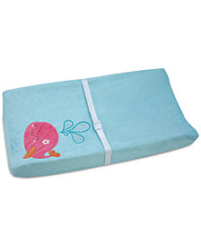 Carter's Sea Embroidered Appliqué Quilted Velboa Changing Pad Cover