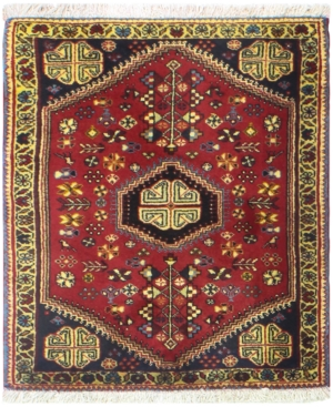 Macys Fine Rug Gallery B605178 Abedeh 2 7 x 3 1 Red HandKnotted Area Rug One Of A Kind