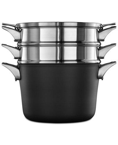 calphalon premier space saving hard anodized non stick 8 qt multi pot lid cookware. Black Bedroom Furniture Sets. Home Design Ideas