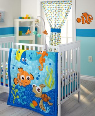 Finding Nemo 4-Pc. Graphic-Print Crib Liner Set
