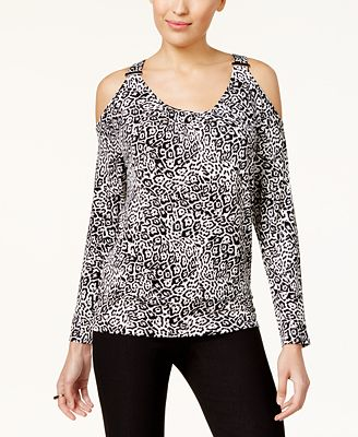 Thalia Sodi Cold-Shoulder Blouse, Created for Macy's