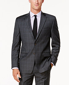 Lauren Ralph Lauren Men's Classic-Fit Gray Windowpane Ultraflex Jacket
